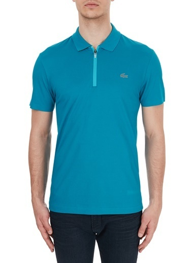 Lacoste  Slim Fit Fermuarlı Polo T Shirt Erkek Polo Ph5109 Ts7 Mavi